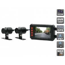 AVIS AVS540DVR Двухканальный видеорегистратор для мотоцикла / квадроцикла / снегохода (Full HD 1080P)