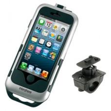 Interphone  SMIPHONE5 Silver - Держатель для iPhone 5 на трубчатый руль мотоцикла, велосипеда