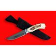 """Нож Охотничий """"Бурундук"""", цельнометаллический, клинок сталь 95Х18, рукоять лосиный рог"""