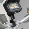SW-MOTECH Universal GPS Mount Kit Navi Case Pro M Универсальный чехол для смартфонов, навигаторов в комплекте с креплением на руль, зеркало арт. GPS.00.308.30201/B