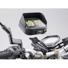 SW-MOTECH Universal GPS Mount Kit Navi Case Pro L - Универсальный чехол для смартфонов, навигаторов в комплекте с креплением на руль, зеркало арт. GPS.00.308.30201/B