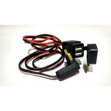 Saito DIN2USB Переходник с DIN коннектора на USB (1метр) для мотоциклов BMW, KTM