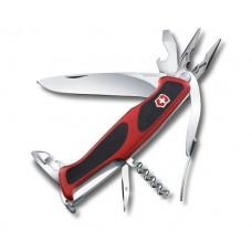 Victorinox RangerGrip 74 - Нож перочинный 0.9723.C 130мм 14 функций красно-чёрный